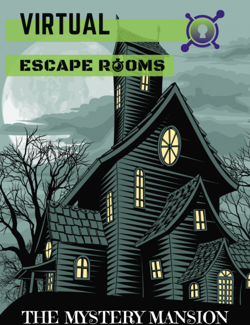 Virtual Escape Room - The Mystery Mansion - halloween September October event inspiration