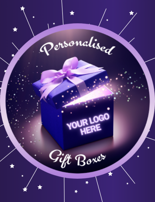 Personalised gift boxes for bespoke events available