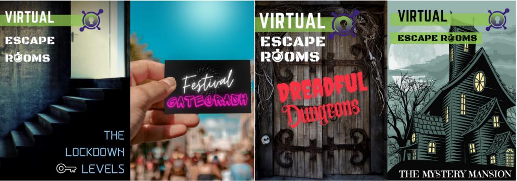 Blue hat team building virtual escape room