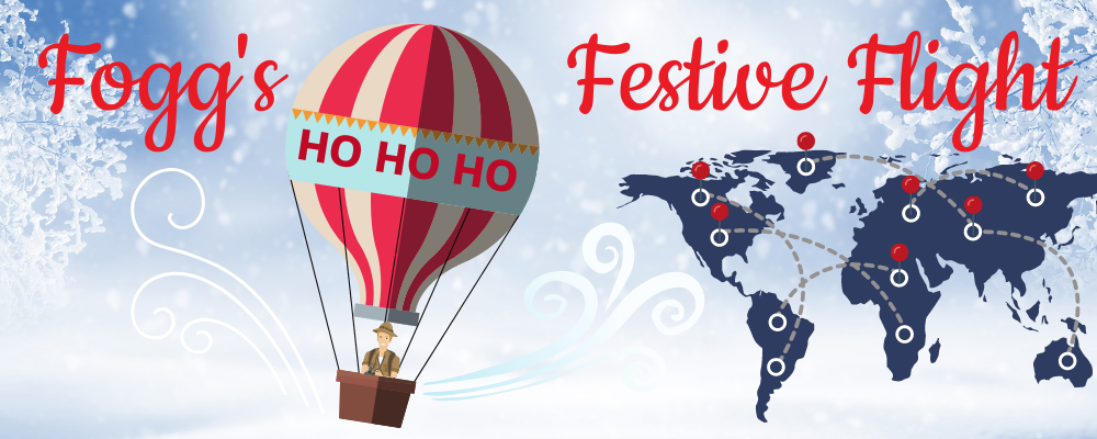 fogg's festive flight virtual corporate activity
