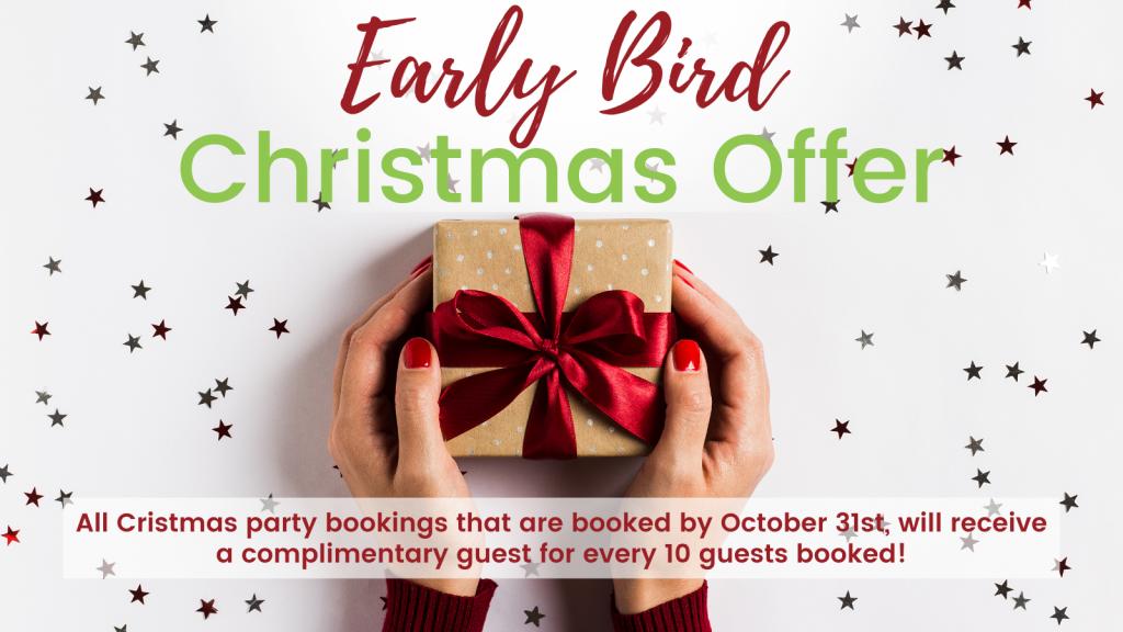 Early Bird Christmas offer